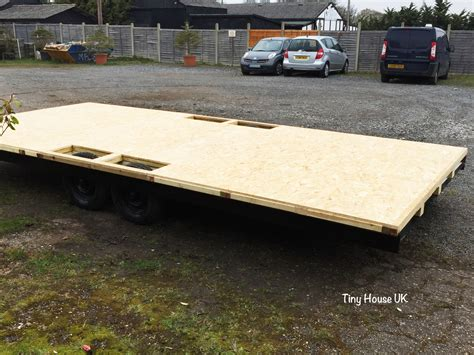 flatbed trailer for tiny house tiny house trailers tiny house uk