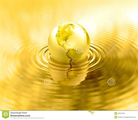 Golden Tickey By Meta Liquis Usa golden earth planet gold liquid ripples stock illustration image 50543139