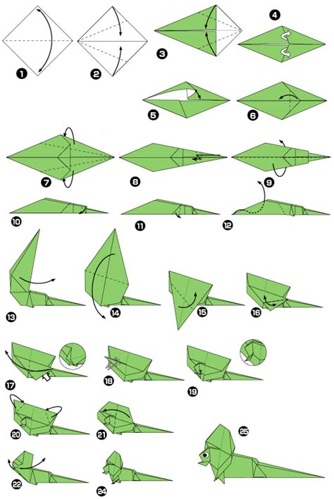 Lizard Origami - origami of lizard