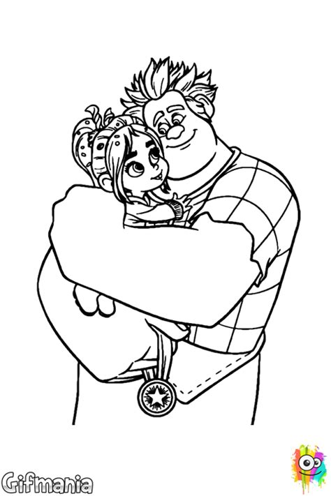 Ralph And Vanellope Coloring Page Wreck It Ralph Vanellope Coloring Pages