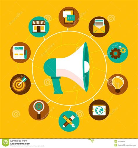 design icon online vector internet marketing concept in flat style stock