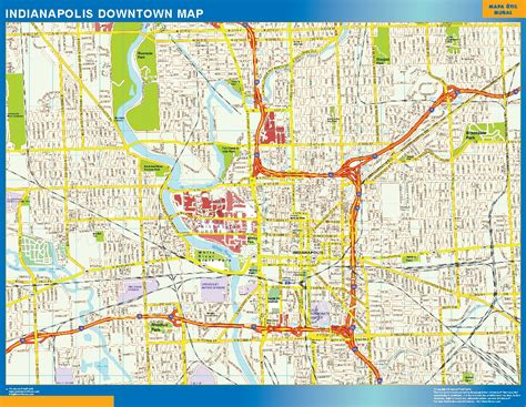 usa map states indianapolis indianapolis downtown map netmaps usa wall maps shop