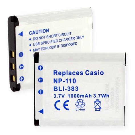 Battery Casio Np 110 Casio Np 110 Replacement Battery Bli 383 Photo