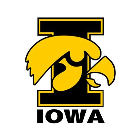 Vinyl Modified Mba by Iowa Hawkeyes Vinyl Decal Quot I Quot Logo Bumper Stickers