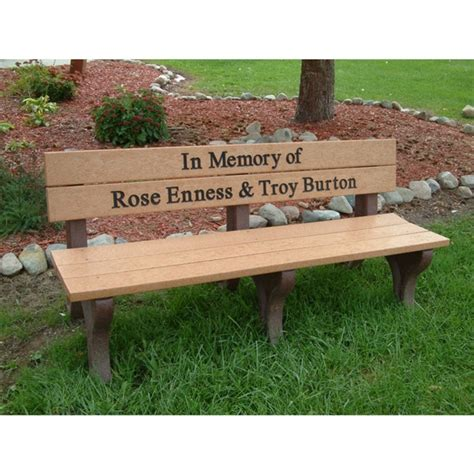 personalized memorial bench memorial logo park bench bench with back 6 foot recycled