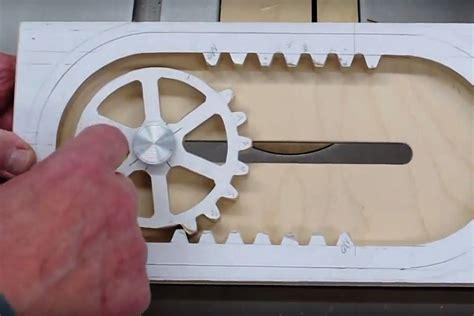wooden reciprocating rack  pinion