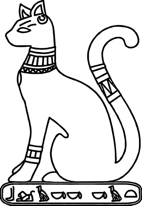coloring pages ancient egypt egyptian cat coloring pages murderthestout