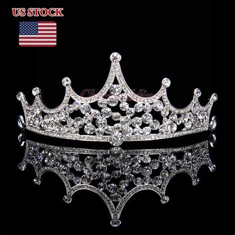 Princess Wedding Crown princess bridal tiara crown headpiece rhinestone wedding prom pageant crowns ebay