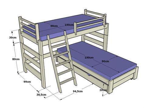 futon 2 cuerpos medidas litera infantil en l de 110cm altura y cama inferior con