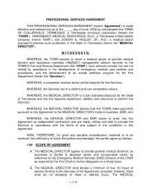 professional services contract template 10 best images of sle service agreement template