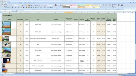 inventory tracking spreadsheet template free spreadsheet