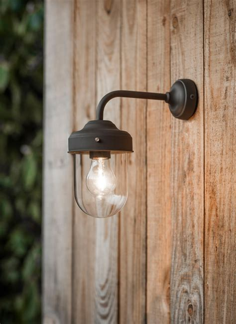 Barn Light In Coffee Bean Steel Garden Trading Garden Wall Light