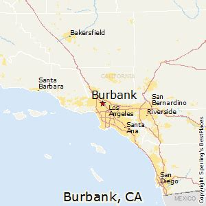 california map burbank best places to live in burbank california