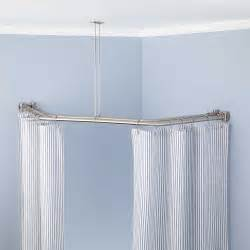 bathroom shower curtain rod neo angle solid brass shower curtain rod bathroom