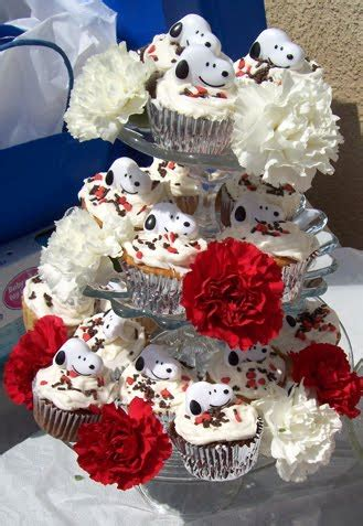 snoopy themed baby shower  pretty