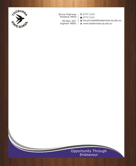 Design For Header And Footer | modern feminine school letterhead design for toobanna