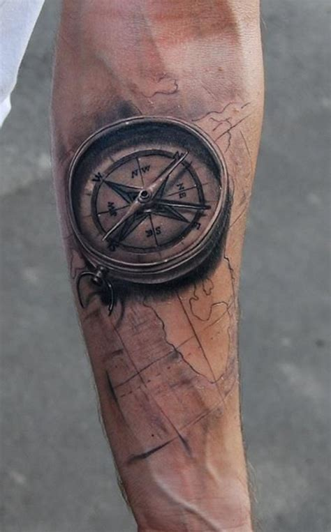 tattoo compass 3d 80 fantastic map tattoos