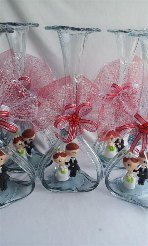 floreros con nube hermoso centro de mesa boda florero vidrio soplado novios