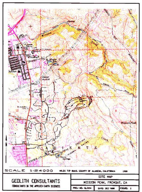 geologic map san jose quadrangle mission peak landslide fremont ca j david rogers