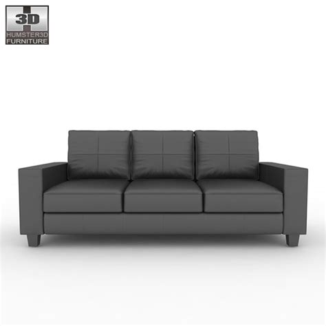 3 on a couch game ikea skogaby sofa 3d model hum3d