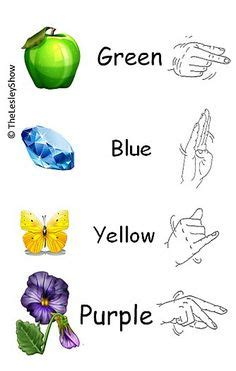 sign language for colors american sign language twinkle twinkle
