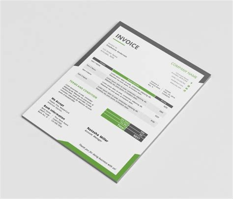 eps format from word invoice template word psd vector eps and ai format