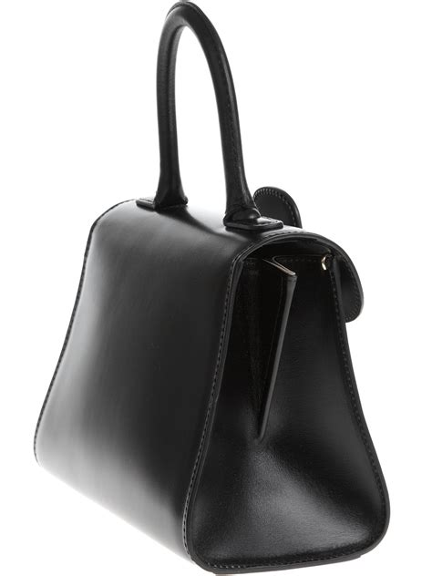 Maloles Handbag by Delvaux Buckle Tote Bag In Black Lyst
