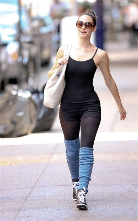 In Emmy Rossum And Hilary Duff by Emmy Rossum Tight Candids Leaving A Class In Nyc 04