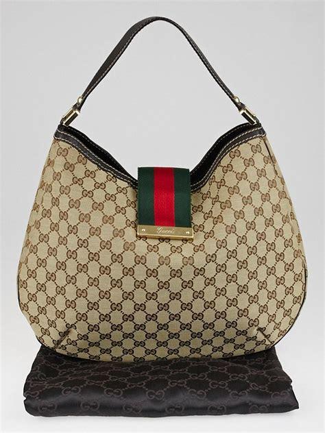 News Web Up Ebelle5 Handbags Purses by Gucci Beige Gg Canvas New Web Hobo Bag Yoogi S Closet