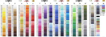 embroidery thread colors embroidery thread color chart