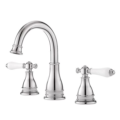 Pfister Bathroom Faucet by Shop Pfister Sonterra Polished Chrome 2 Handle Widespread