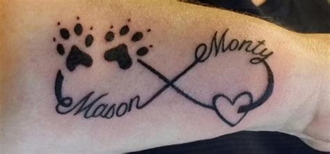 infinity paw print tattoo infinity symbol with paw prints pictures to pin on