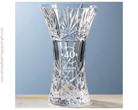 Chrystal Vase by An Anniversary Gift With Flare A Cut Vase