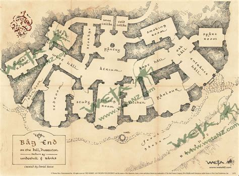Bilbo Baggins House Floor Plan | the hobbit floor plan of bag end natural building blog
