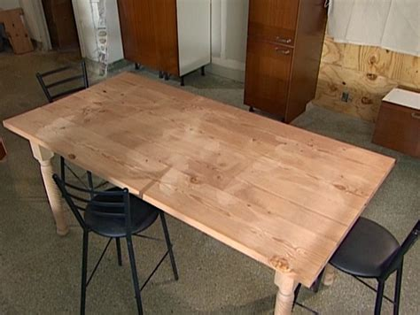 home made kitchen tables build a diy wood table how tos diy
