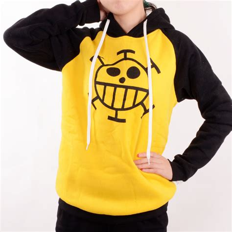 Sweater Trafalgar japanese anime clothes one trafalgar costume hoodie yellow sweater anime