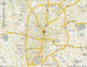 Atlanta On A Map by Atlanta Map Online Map