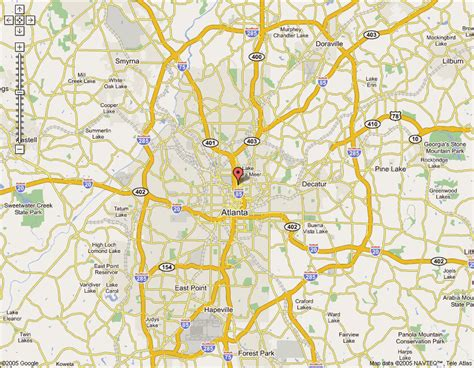 atlanta map online map