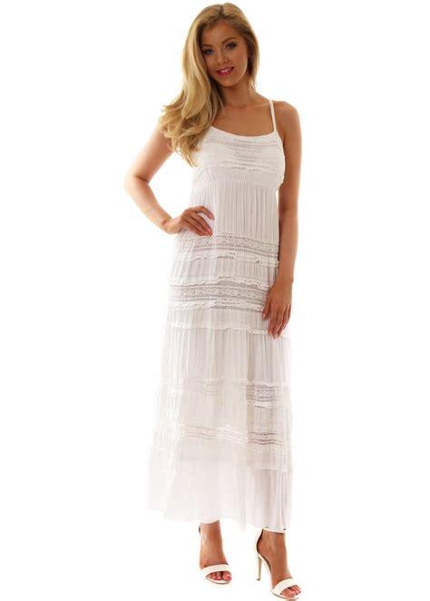 white lace boho maxi dress monton maxi dress italian designer boho chic white lace