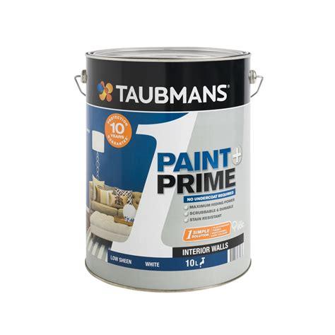 taubmans interior paint taubmans 1 paint prime 10l white low sheen interior paint
