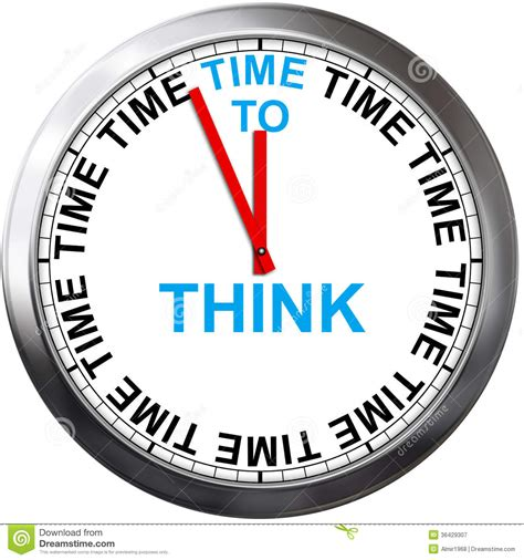 think on time to think royalty free stock photography image 36429307