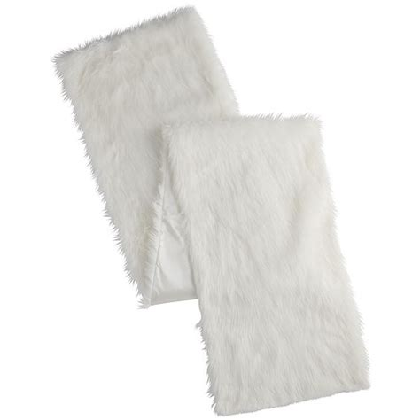faux fur table runner fox faux fur white table runner table linens gt table