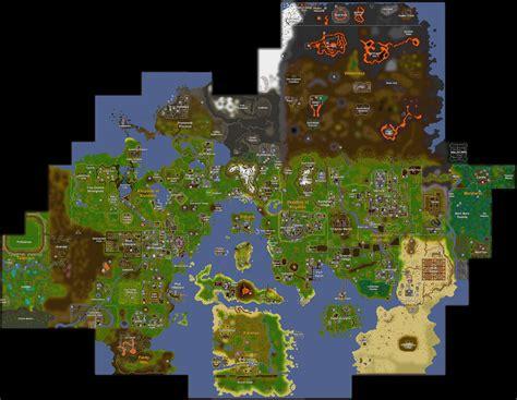runescape 2007 map maps world map runescape