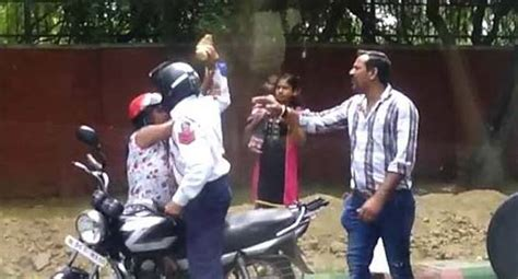 section 427 ipc cop who thrashed woman booked under charges carrying