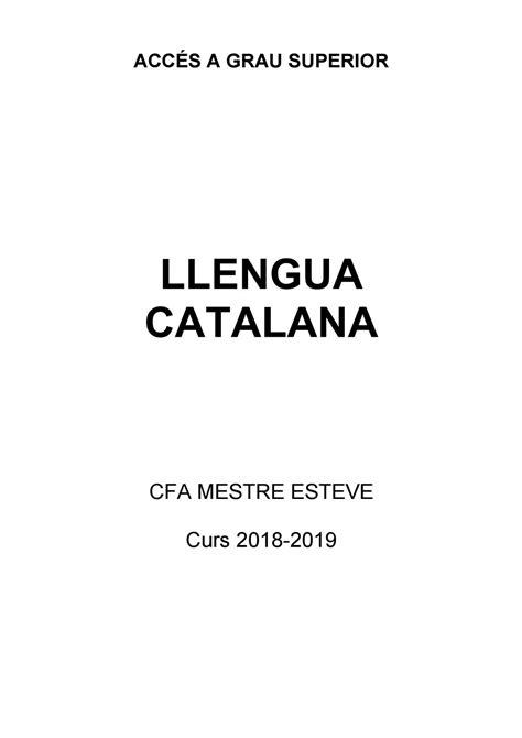 Dossier català 2018/2019 by Centre de Formació d'Adults