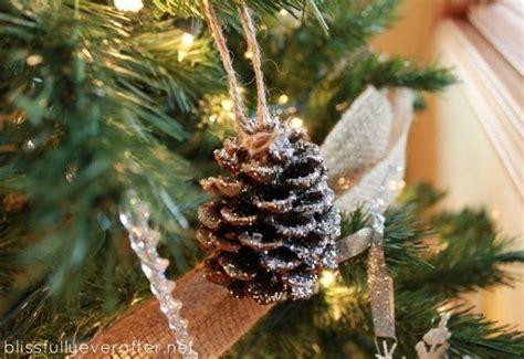 unique festive decorations  pine cones