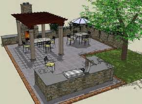 Outdoor Kitchen Blueprints Pics Photos Outdoor Kitchen Free Plans Howtospecialist