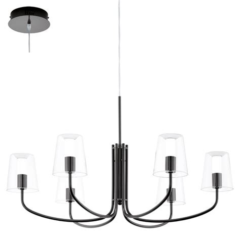 Black Nickel Ceiling Lights 95005 Eglo Noventa 6 Light Ceiling Light Black Nickel