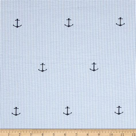 fabric pattern anchor kaufman embroidered seersucker anchors blue discount