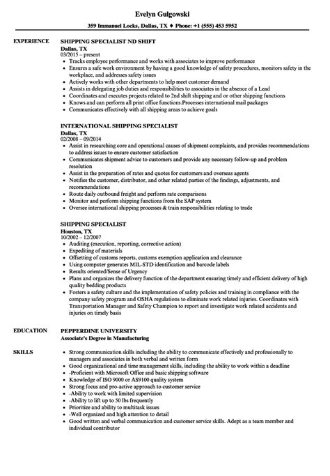 Document Imaging Specialist Cover Letter by Freight Specialist Sle Resume Promotion Announcement